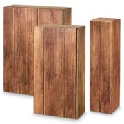 Timber 2er PK Wein/Sekt Motivdruck inkl. Einlage, 360 x 180 x 90 mm, VE 25 Stk.