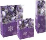 Purple X-Mas Tragetasche 260 x 100 x 350 mm glanzplastifiziert VE 10 Stk.